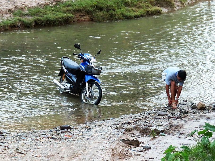 Waschanlage-Fluss