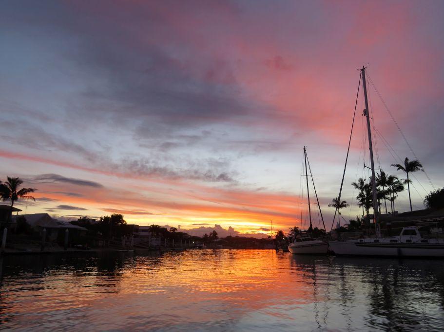 Sonnenuntergang Bootsfahrt in Minyama 1