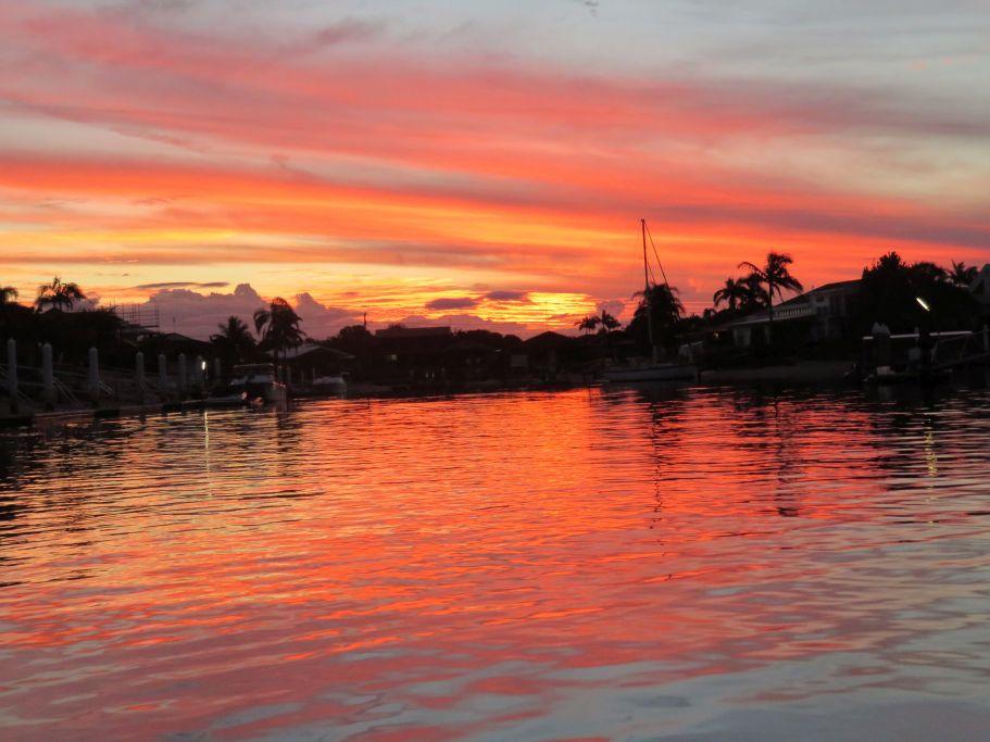 Sonnenuntergang Bootsfahrt in Minyama 2