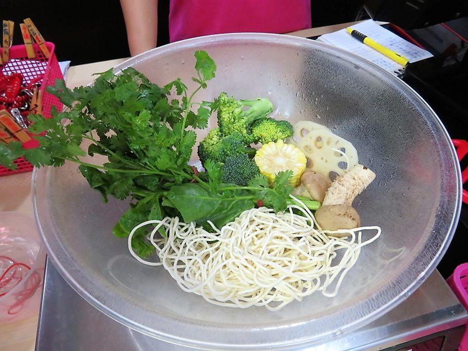 Essen in Chinatown vorher