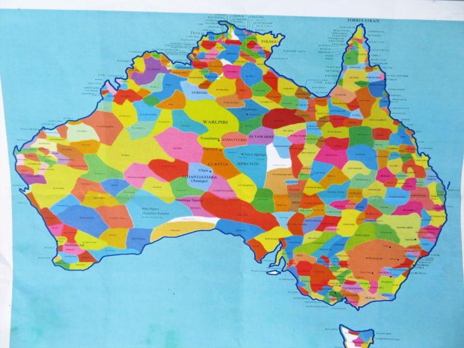 Besiedelung Australiens durch die indigenen tribes